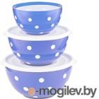 Набор салатников Berossi Marusya ИК 22408000 светло-голубой