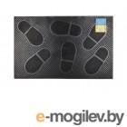 Коврик придверный 58х36,5 см, черный, Следы, TM YPgroup (Размер 58х36,5 см. Материал: вулканизированная непористая резина.)