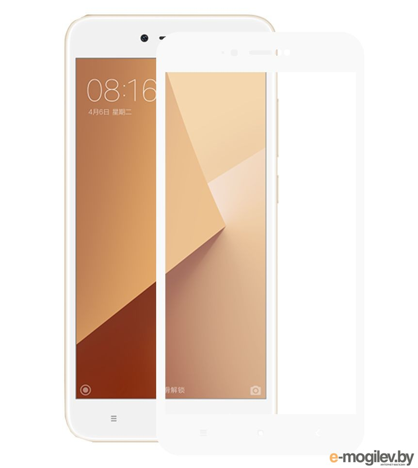 для Xiaomi Закаленное стекло Xiaomi Redmi Note 5A DF Fullscreen xiColor-17 White