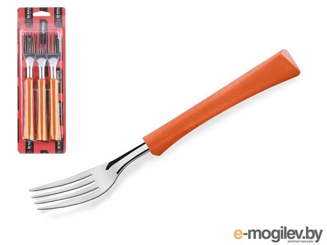 Набор вилок столовых, 3шт., серия INOVA D+, коралловые оранжевые, DI SOLLE