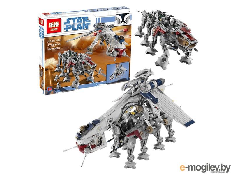 Конструкторы Lepin Star Wars Десантный Корабль Республики с AT-OT Шагоходом 1788 дет. 05053