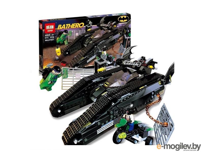 Конструкторы Lepin Batman Бэттанк: Ридлер и Убежище Бэйна 673 дет. 07067