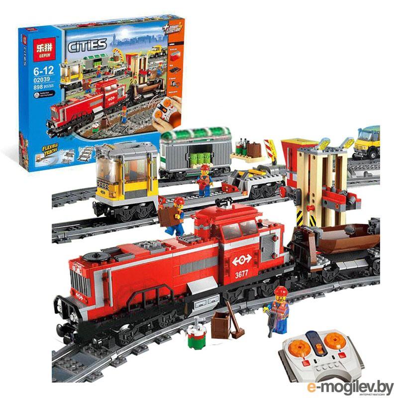Конструкторы Lepin Bulerds Красный грузовой поезд 898 дет. 02039