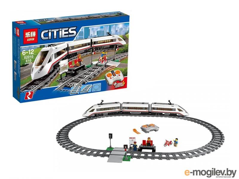 Конструкторы Lepin Cities Скоростной пассажирский поезд 610 дет. 02010