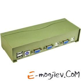 Переключатель Vpro USB Auto 2-port (PS/2, USB, SVGA, Audio+Mic)(+2 кабеля) <VDS8004>