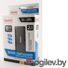 BURO Адаптер универсальный для ноутбуков Авто+220/выход/12-24В/USB/65Вт/ /8переходников