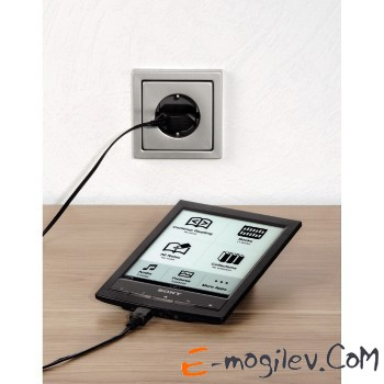 Зарядное устройство Piccolino, 5В/1A, для электронных книг и других устройств micro USB , черный, Ha