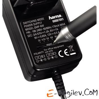 Адаптер Hama H-87091 универсальный Eco 500 с 6 разл.штекерами 500 mA черный