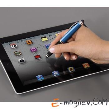 Стилус/шариковая ручка Soft Touch для Apple iPad, 2 в 1, синий, Hama     [ObN]