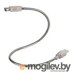 """Удлинитель USB A-B (m-f) """"Goose Neck"""", 0.4 м, хромированный, Hama     [ObN]"""