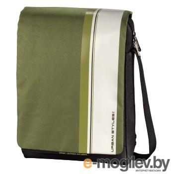 """Сумка для ноутбука 12.1"""" Aha Urban Styles Messenger H-101384 green/white 30x20х3cm"""