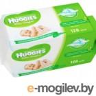 Влажные салфетки Huggies Ultra Comfort с Алоэ Вера и витамином Е 64*2шт