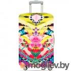 чехлы для чемоданов LOQI Shipei Naito Flower Dream средний