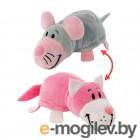 1Toy Вывернушка 2в1 Кот-Мышь Pink Т10928