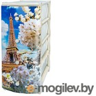 Комод пластиковый Эльфпласт Эйфелева башня 1 (белый)