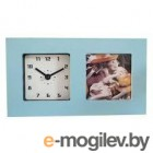 Часы-фоторамка маленькие Вега 6409 голубые 19.7x3.8х11.1 см