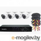 Комплект видеонаблюдения Falcon Eye FE-104MHD KIT ДАЧА FE-104MHD KIT ДАЧА. Гибридный регистратор с поддержкой AHD/TVI/CVI/IP/Аналог. Алгоритм сжатия H.264,Запись 1080N/100 кад./сек
