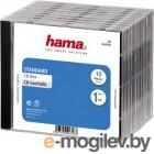 Коробка Hama H-44746 Jewel для 1 CD 10 шт. прозрачный/черный
