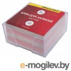 Блок для записей бумажный Silwerhof ЭКОНОМ 701015 90х90х45мм ассорти пластиковый бокс