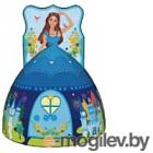 Детская игровая палатка Calida Дом + 100 шаров Принцесса синяя 712