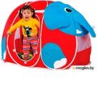 Детская игровая палатка Calida Дом + 100 шаров Слоник 666