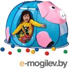 Детская игровая палатка Calida Дом + 100 шаров Поросенок 667