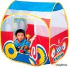 Детская игровая палатка Calida Дом + 100 шаров Автомобиль 654