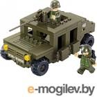 Сборная игрушка, конструктор Sluban Армия. Военный Хаммер / M38-B0297