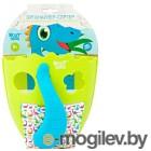 Органайзер детский для купания Roxy-Kids DINO с сортером салатовый RTH-001B