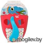Органайзер детский для купания Roxy-Kids Dino / RTH-001R (коралловый)