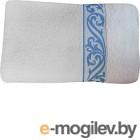 Полотенце Multitekstil M-490 / 7С445-БЛГ белый/голубой