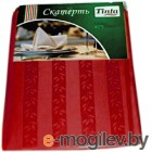 Скатерть Tinta Уильям ТС-1418 140x180 (бордовый)