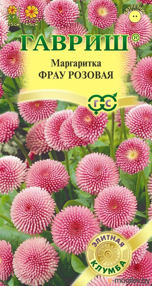Маргаритка Фрау розовая *5 шт гранул. пробирка Н17
