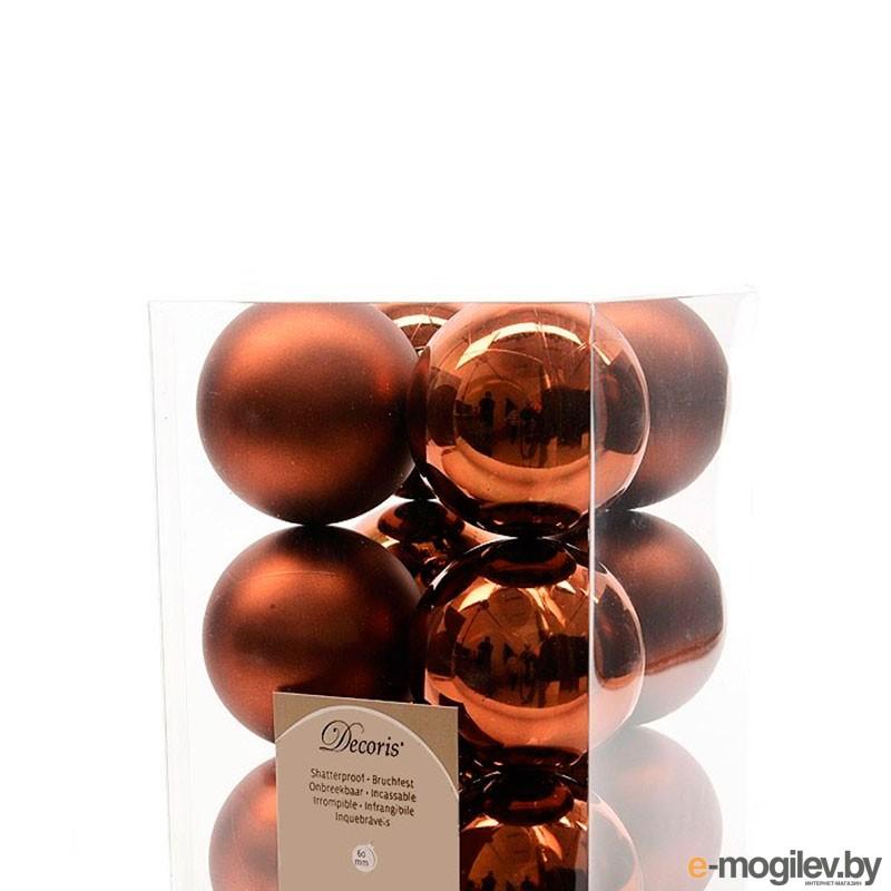 Елочные игрушки и украшения Kaemingk Набор шаров 12шт Truffle 021944