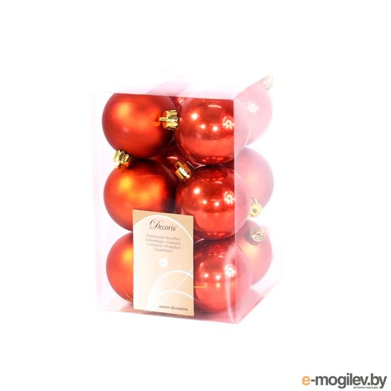Елочные игрушки и украшения Kaemingk Набор шаров 12шт Terracotta 021983
