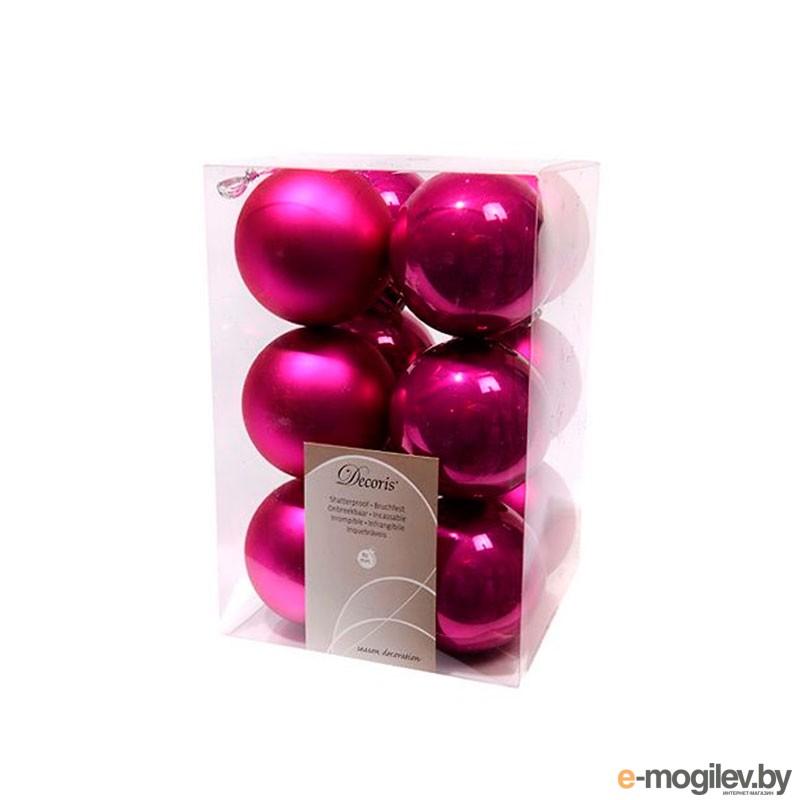 Елочные игрушки и украшения Kaemingk Набор шаров 12шт Fuchsia 958128