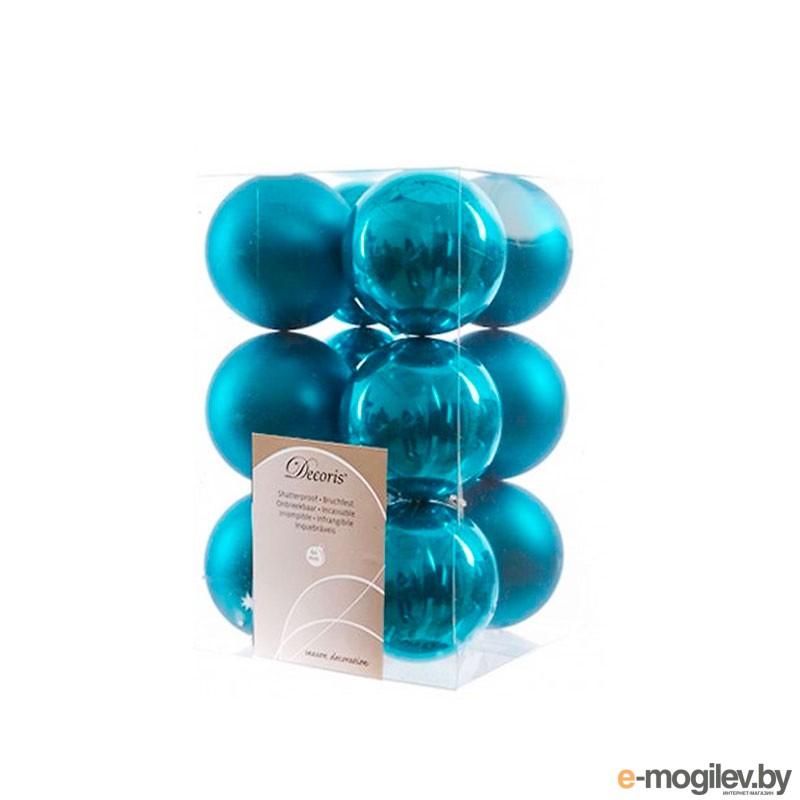 Елочные игрушки и украшения Kaemingk Набор шаров 12шт Turquoise 021982