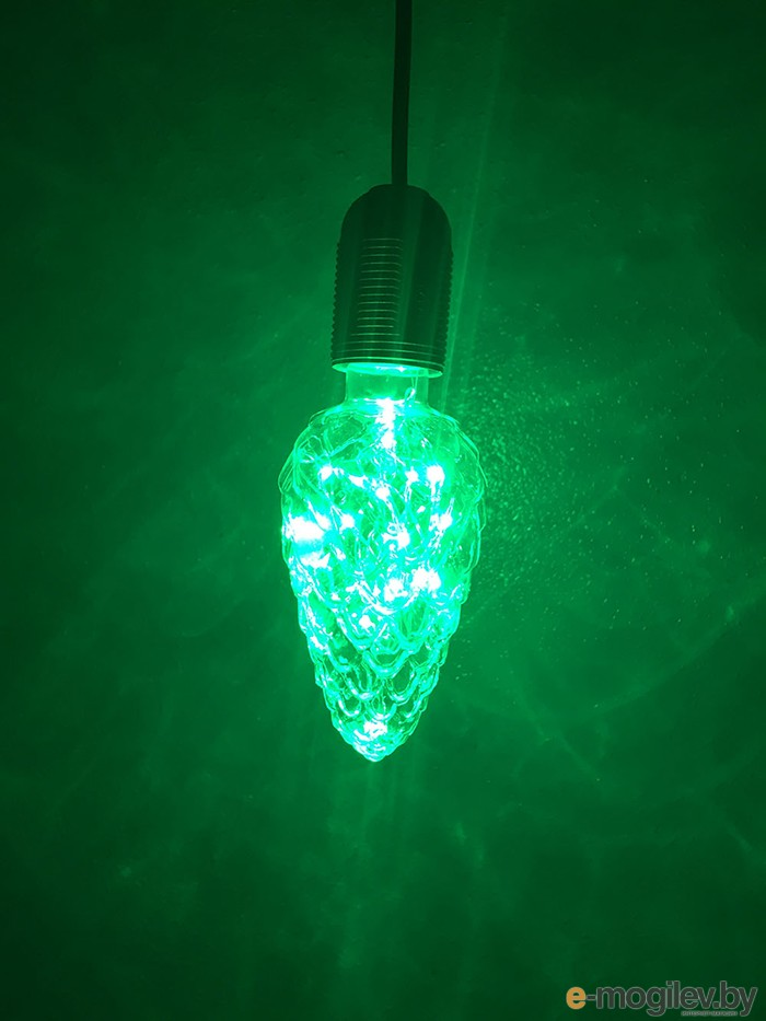 Все для праздника Светодиодная лампа Espada Шишка Green E-E27NYC35G