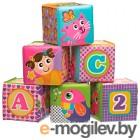 Игровой набор для ванны Playgro Мягкие кубики / 0184164 (розовый)