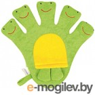 Махровая рукавичка для купания Happy Care 5 лягушат 31232