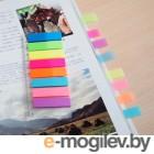 Набор самоклеящихся неоновых закладок из пластика 2-х видов 45*12, 8*25, 8 цветов, STICK