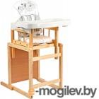 Стульчик для кормления GLOBEX Мишутка New (белый)