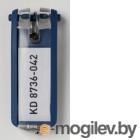 Набор брелков для ключей с инфо-окном, Key Clip, 6шт, синий  DURABLE, Германия
