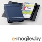 Визитница на 200 карт Durable, PVC, темно-синяя
