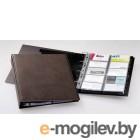 Визитница на 400 карт Durable, PVC, коричневая