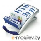 Настольная картотека для визиток Visifix desk на 200 визиток, серебристая