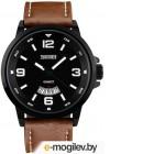 Часы наручные мужские Skmei 9115-1 черный/коричневый