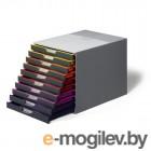 Бокс с 10 цветными выдвижными ящиками Durable, 28*29.5*35см