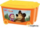 Ящик для игрушек Бытпласт Маша и медведь 4313794