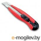 Нож канцелярский мощный с шириной лезвия 18мм с 2-мя запасными лезвиями,красный, KW-trio